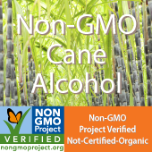 Non-GMO (Not-Certified-Organic) Cane Alcohol